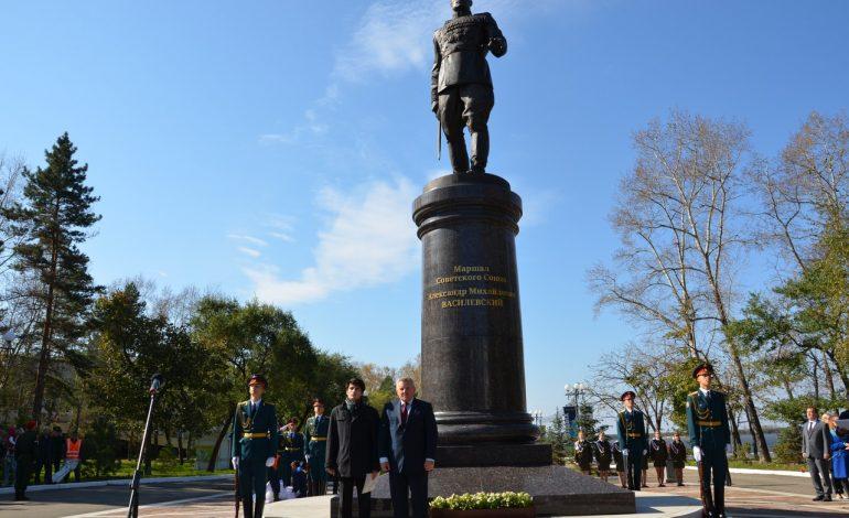 В Хабаровске торжественно открыли памятник маршалу Великой Победы Василевскому (ФОТО; ВИДЕО)