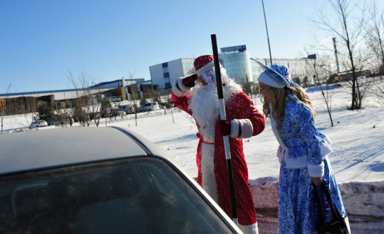 Дед Мороз – за ответственное вождение!