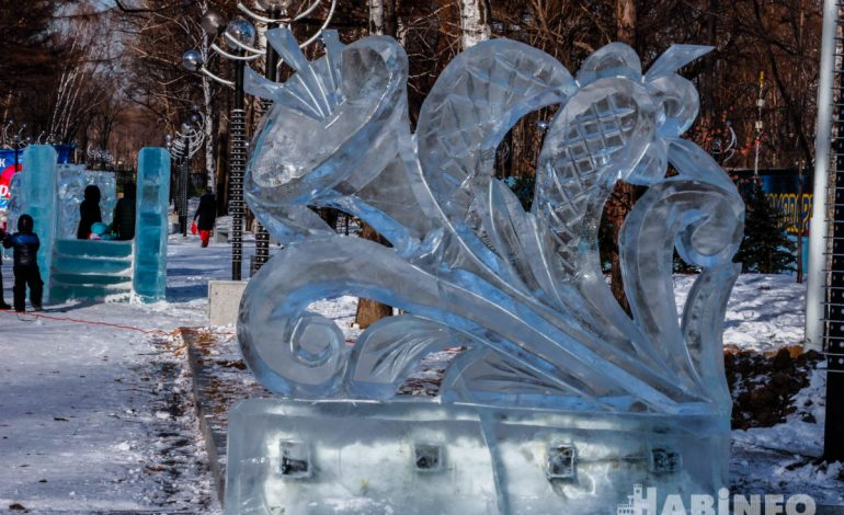 «Космический» парк имени Гагарина подготовили к встрече Нового года в Хабаровске (ФОТО)