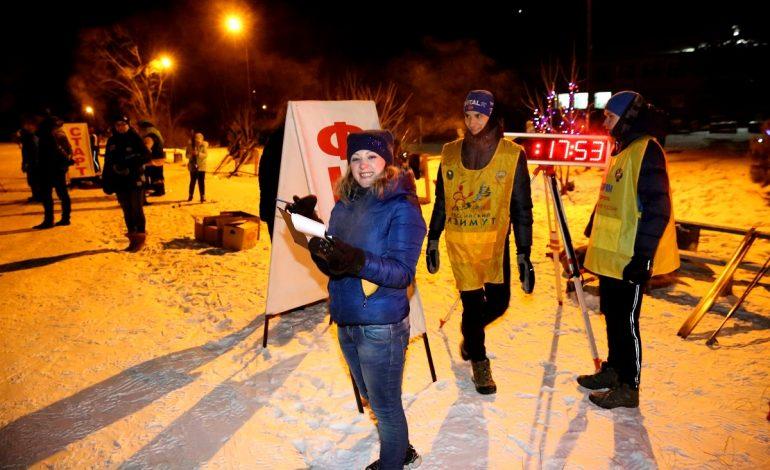 Новогодняя вечерняя лыжная гонка прошла в селе Ильинка (ФОТОРЕПОРТАЖ)