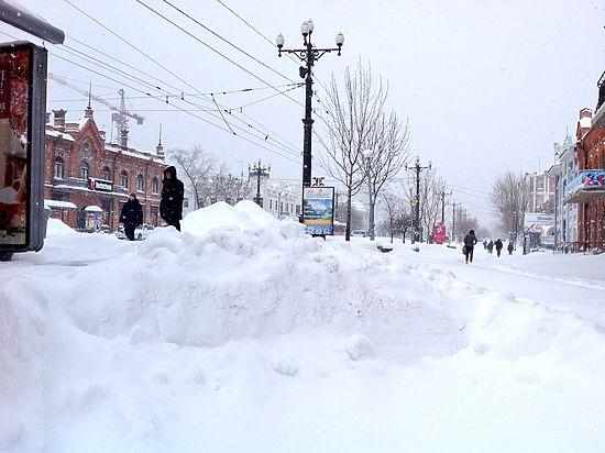 Как Хабаровск справлялся со снегопадом