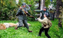 """""""Белорусские партизаны"""" и """"бойцы Третьего рейха"""" не поделили центр Хабаровска"""