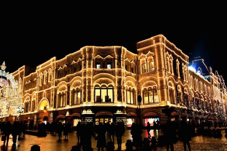 новый год в городах россии москва