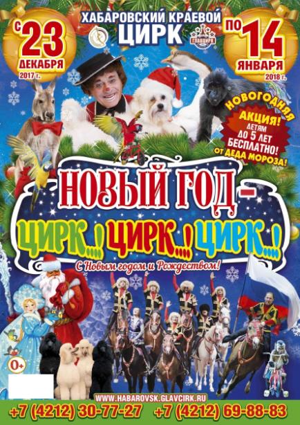 Новый год в цирке: скоро Май «растопит» лёд в Хабаровске