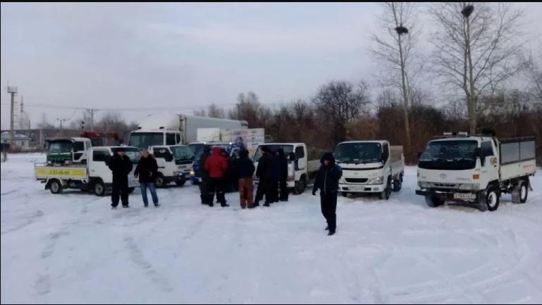 дальнобойщик забастовка хабаровск