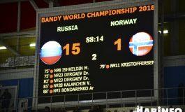 Чемпионат мира по бенди: русские медведи раскатали викингов на хабаровском льду