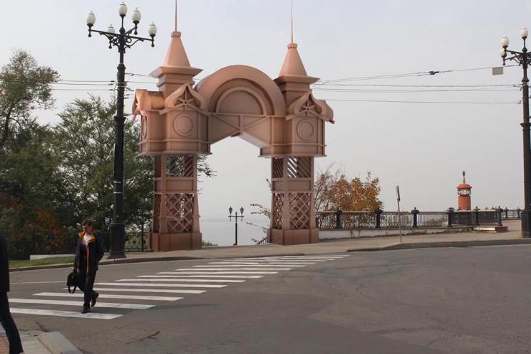 триумфальная арка хабаровск шевченко фото фотография