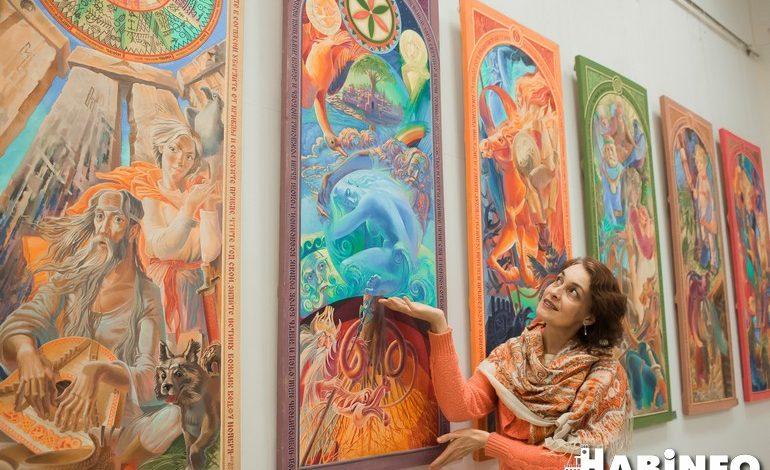 Змей Горыныч и девушки с боди-артом: сказочная выставка в галерее имени Федотова