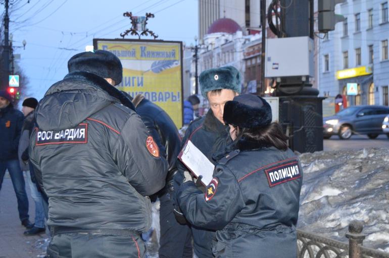 пикет полиция росгвардия хабаровск немцов февраль