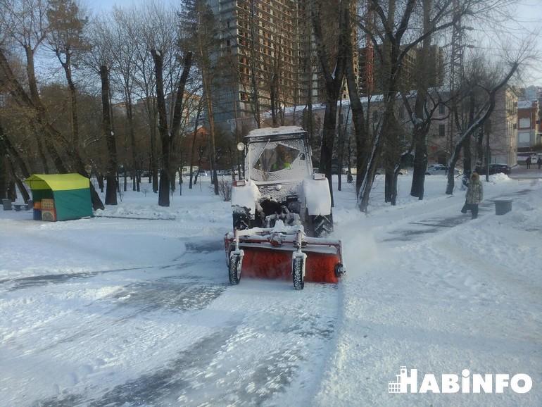 МУП Южное хабаровск дороги чистка снега 2018