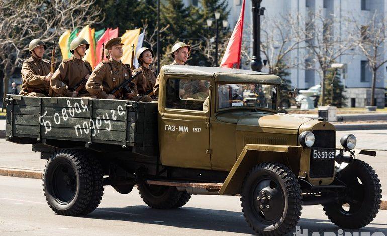Юнармейцы и «Солнцепек»: Парад Победы 2018 прошел в Хабаровске