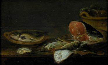 Натюрморт Александра Адриансена «Рыбы» из собрания Дальневосточного художественного музея