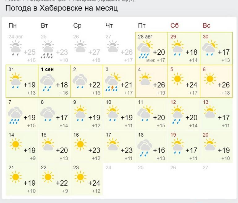 Неустойчивый месяц: погода на сентябрь в Хабаровске