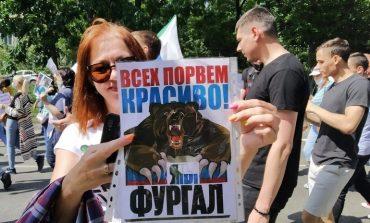 «Хабаровск угощает»: седьмая суббота митингов и шествие новым маршрутом