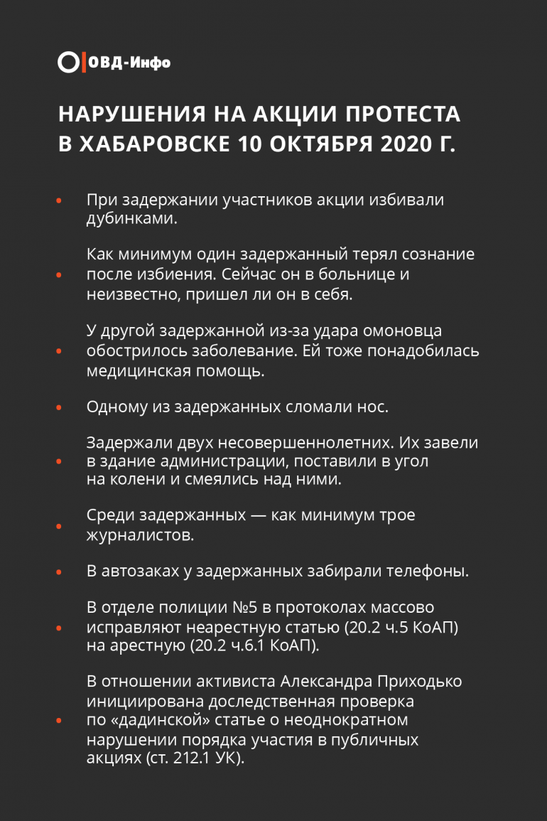 Три месяца протестов в Хабаровске: палатки, ОМОН и задержания