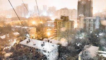 Снег в Хабаровске 2020: первый пошёл!