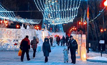 Как манит к себе по вечерам новогодний городок в парке «Динамо»