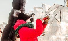 Красота на морозе: конкурс резьбы по льду среди юных хабаровчан