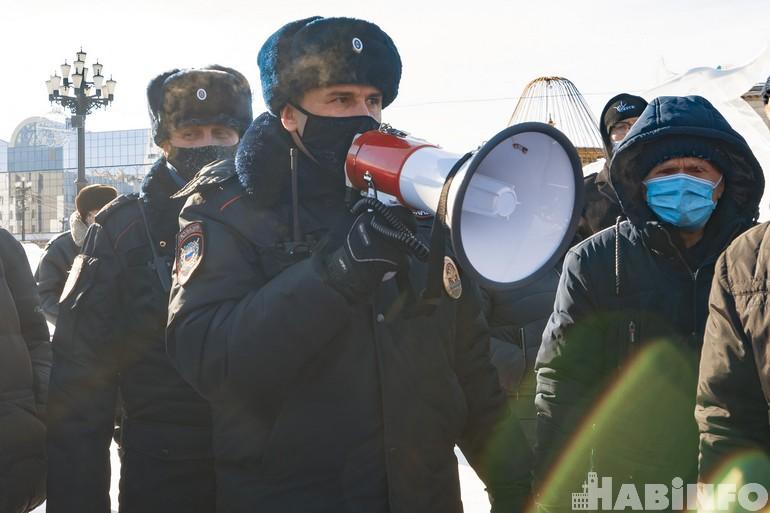 митинг 31 января в Хабаровске