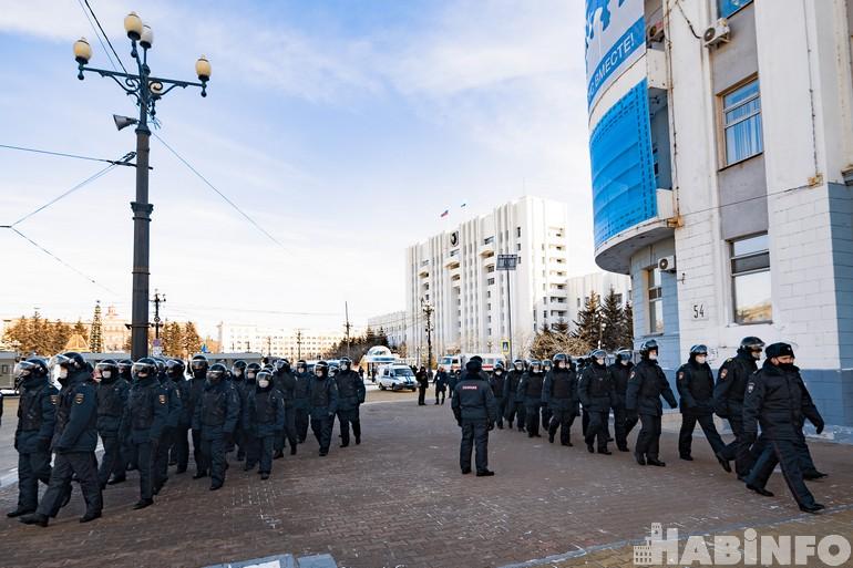 Несанкционированный митинг 31 января в Хабаровске переоценили