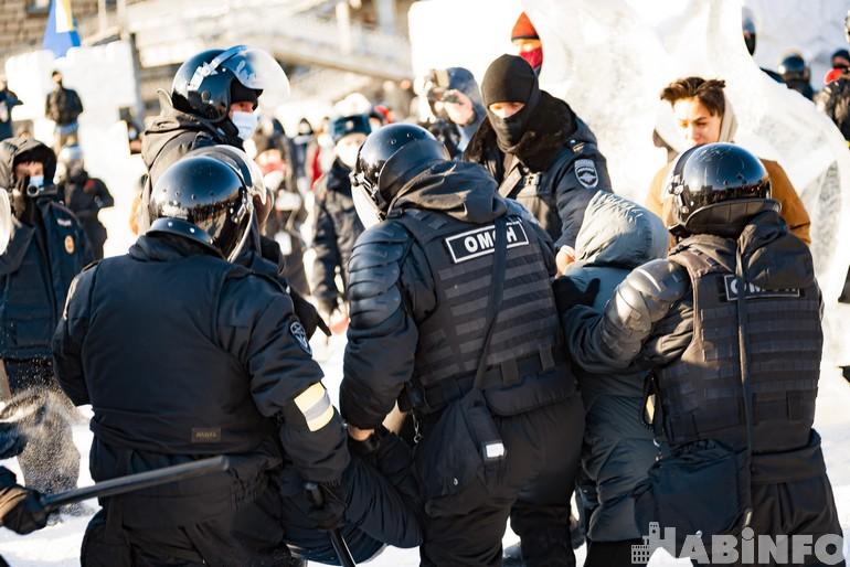 митинг навального хабаровск 23 января