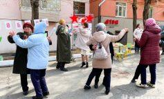 Репетиция гуляний на Девятое мая в Кировском районе