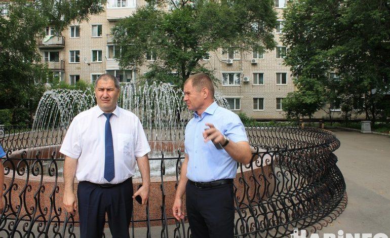 Министру Тюрину в Вяземском показали фонтан