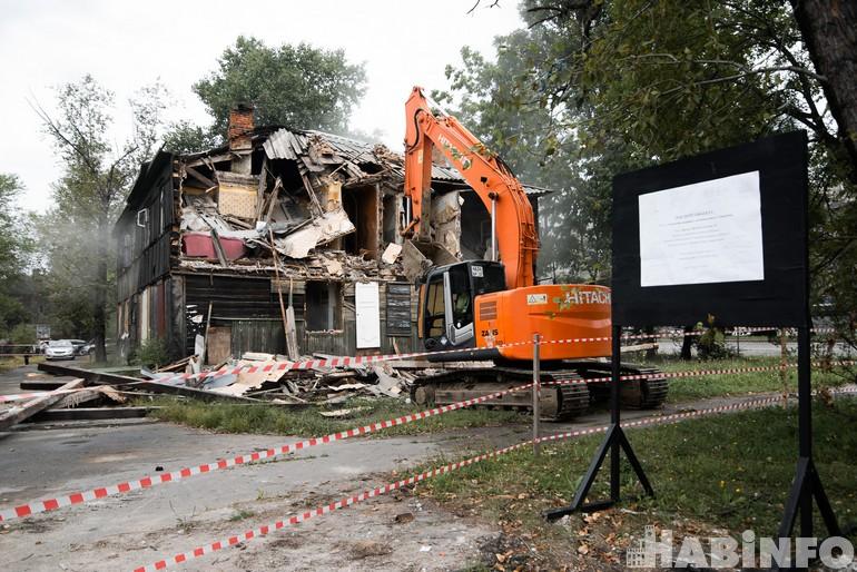 Хабаровские трущобы превращаются в пустырь