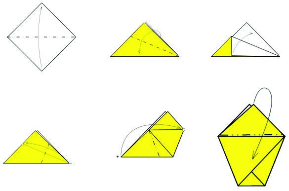 Стаканчик для рассады можно сделать из бумаги в  технике оригами
