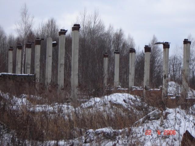 Разрушенное прудовое хозяйство.