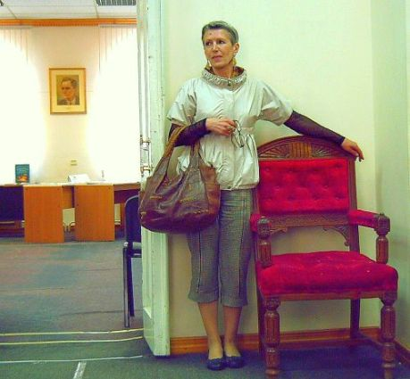 Ирина Харитонова в Дальневосточной государственной научной библиотеке
