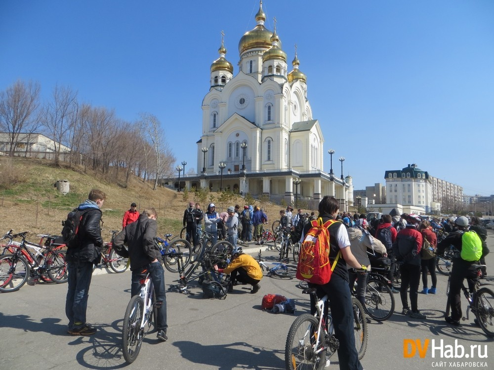 В Хабаровске велосипедистов становится все больше. Фото сайта DVHab.ru