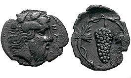 В старину чеканили монеты с изображением винограда