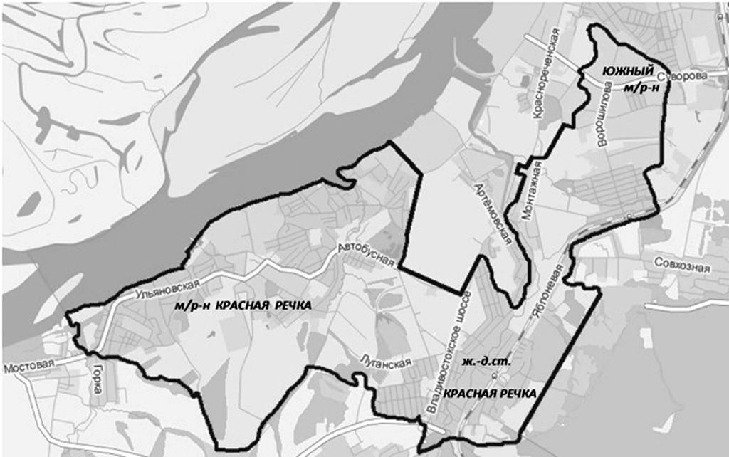 Схема Краснореченского избирательного округа