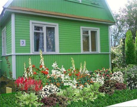 Палисадник - небольшой участок придомовой территории - украшают цветником, кустарником, деревьями