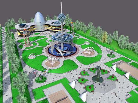 Таким парк будет. На фото фрагмент проекта обновленного парка.