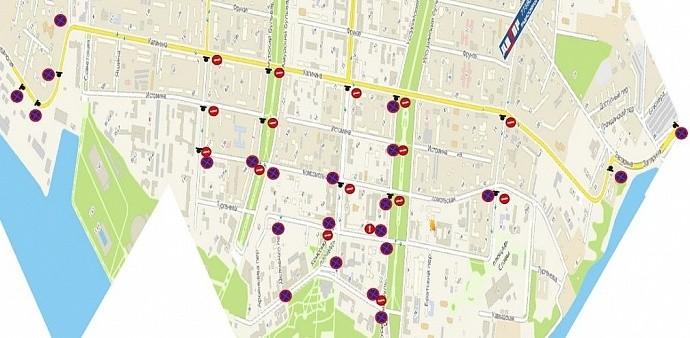 Схема движения транспорта 31 мая