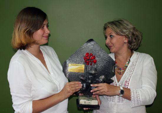 Елена Романова из Читы получила гран-при конкурса. Фото Константина Пронякина