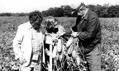 Ольга Мигина (в центре) много лет работал под руководством легендарного зубра аграрной науки Григория Казьмина (справа)