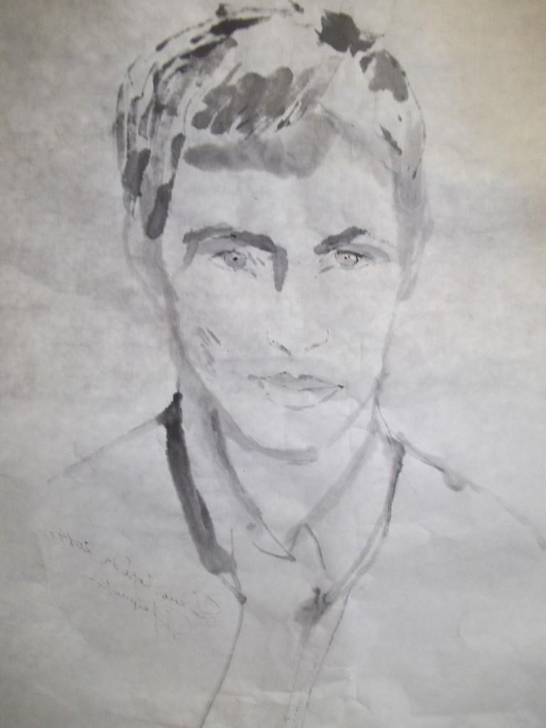 Рисунок местного художника, выполненный за несколько минут