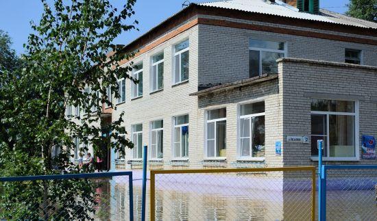 Школа в поселке была отремонтирована накануне наводнения