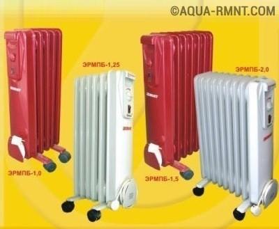 Мощность масляных обогревателей зависит от количества секций