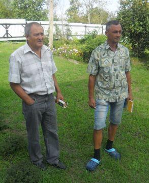 Василий Шокур и Павел Чебукин (справа)