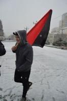 На митинге присутсвовали анархисты