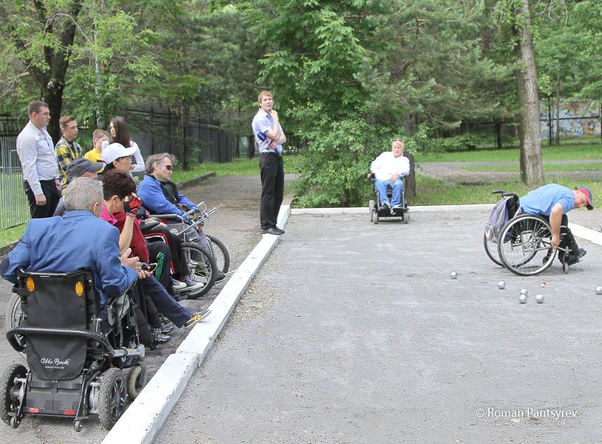 Петанк_играют инвалиды