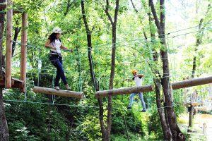 В веревочном парке интересно и детям, и взрослым