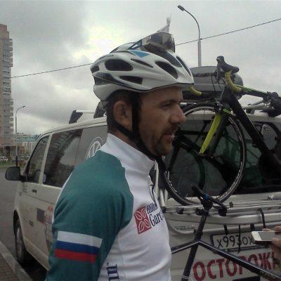 Лидер гонки Алексей Щебелин