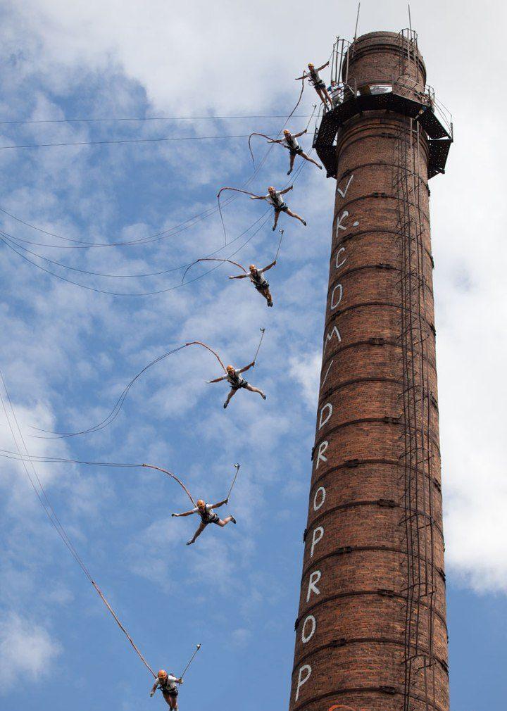 Роупджампинг - это ветер в ушах и душа в пятки. Фото new.vk.com/droprope