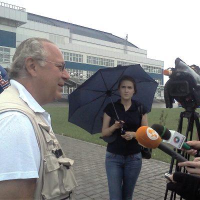 Пауль Брук на встрече с журналистами