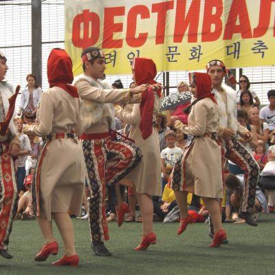 Армянские пляски на корейском фестивале